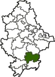 расположение Тельмановского района на карте Донецкой области
