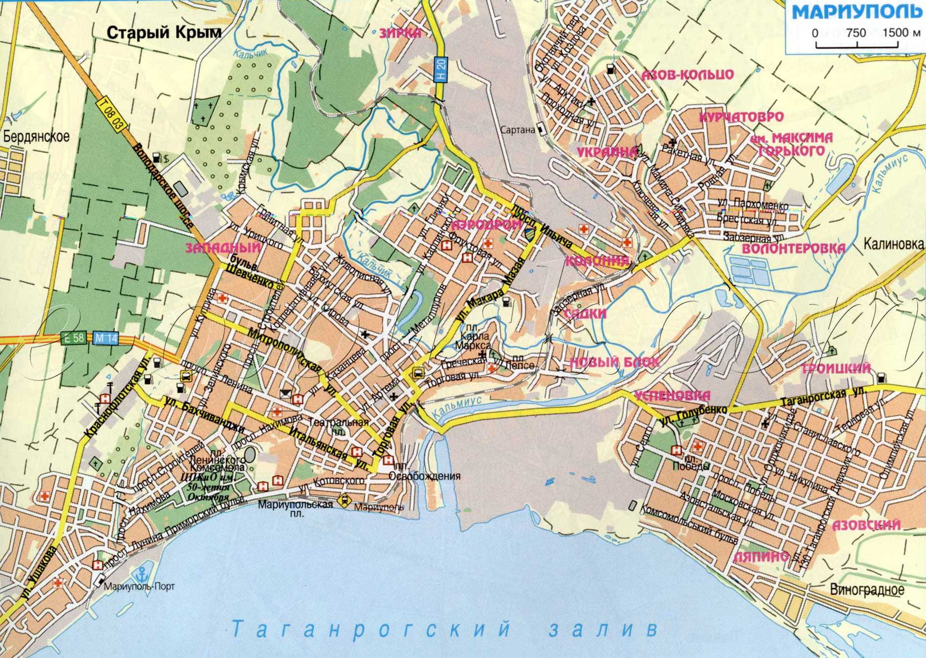 Карта Мариуполя 1