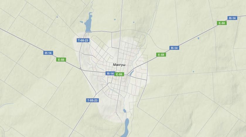 Ландшафтная карта пгт Мангуш (Першотравневый район, Донецкая область)