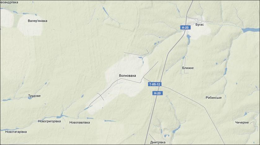 Ландшафтная карта г. Волноваха (Волновахского района Донецкой области)
