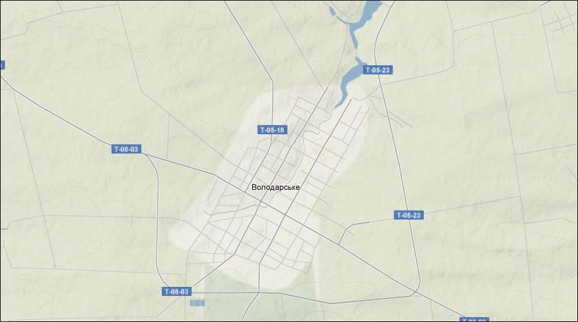 Ландшафтная карта пгт Володарское (Володарский район, Донецкая область)